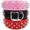 Spiked Leather Dog Collars | 3 Row