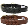 Braided Leather Dog Collars ,western leather, leather dog collar