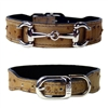 Ostrich Embossed Leather Dog Collar
