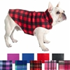 Fargo Fleece Buffalo Plaid Dog Coat | Reversible
