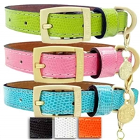 Park Avenue Leather Designer Dog Collar