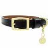 Patent Leather Dog Collar | Black Snakeskin