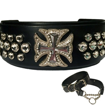 leather dog collar, martingale collar