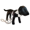 Ivory Taffeta Bowtie Designer Dog Collar and Leash