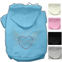 Angel Wings Rhinestone Heart Dog Hoodie