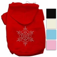 Snowflake Sparkle Dog Hoodies