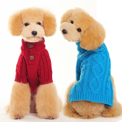Turtleneck Cable Knit Small Dog Sweater