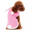 Pink Bunny Dog Sweater with Hood