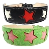 Oh My Stars Leather Dog Collar | Tapered
