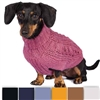 Chunky Cable Knit Alpaca Dog Sweater