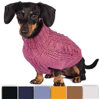 Alpaca Chunky Cable Knit Dog Sweater