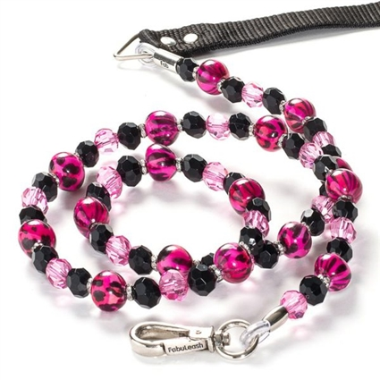 Cat Leash | Pink Animal Print