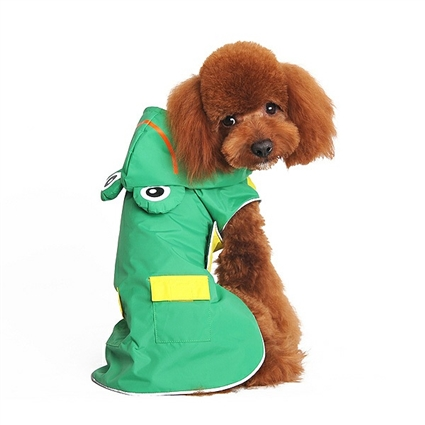 Green Frog Dog Raincoat Rain Coat