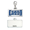 License Plate RSQD Pewter Dog Cat ID Tag