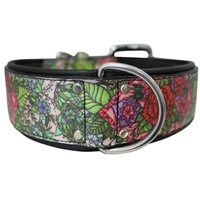 Leather Dog Collar, padded dog collar, wide dog collar
