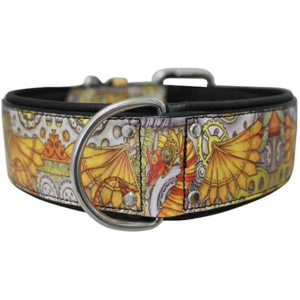 Leather Dog Collar | Steampunk |  Dragon | Dragon Tattoo