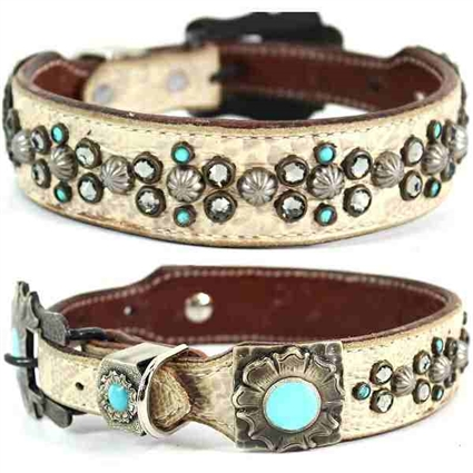 Western Leather Dog Collar | Studded | Marley