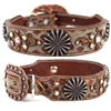 Brown Western Leather Dog Collar | Shadow