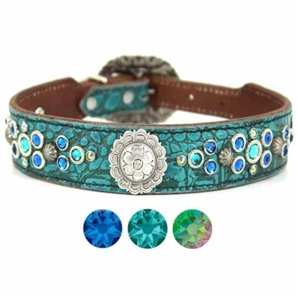 Western Leather Bling Dog Collars