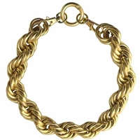 14K Gold Chain Dog Collar