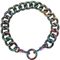 Stainless Steel Chain Dog Collar Necklace | Oil Slick