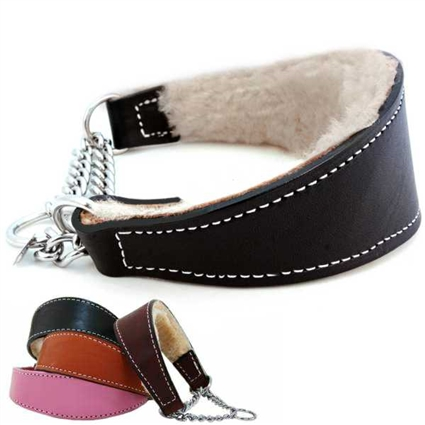 Leather Martingale Greyhound Dog Collar