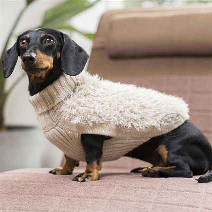 Fringed Alpaca Dog Sweaters
