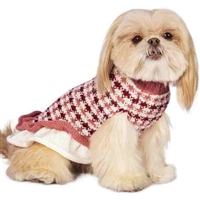 Pink Alpaca Sweater Dog Dress