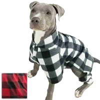 Large Dog Pajamas | Buffalo Plaid Fleece