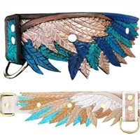 Wings Leather Designer Dog Collar or Martingale