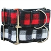 Buffalo Plaid Wide Dog Collar | Martingale Greyhound Collar