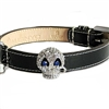 Bling Skull Dog Collar - Patent Leather
