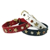 American Hero Gemstone Dog Cat Collars  | Genuine Leather