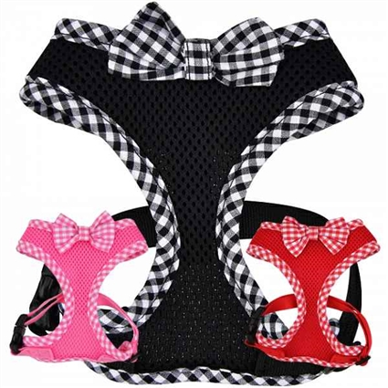 Evie Small Dog Harness with Bowtie