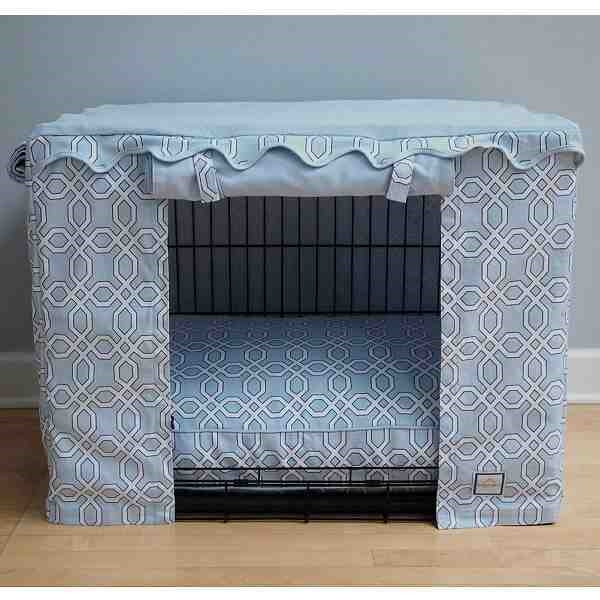 dog crate covers 36 inch cover diy ideas large blue trellis canvas cage