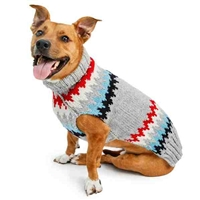 Grey Chevron Dog Sweater