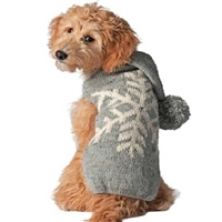 Alpaca Wool Snowflake Dog Sweater Hoodie