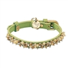 Jade and Jasper  Leather Small Dog Cat Collar