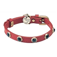 Onyx And Leather Designer Dog Cat Collar