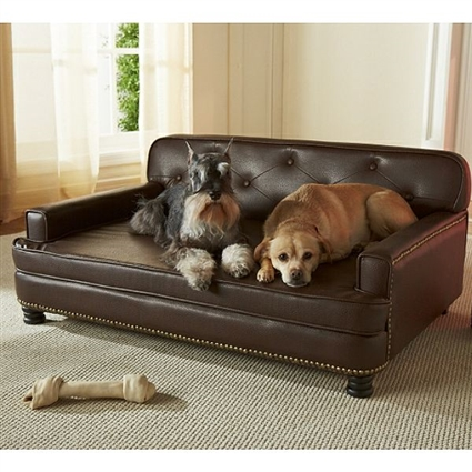 Library Large Dog Sofa Bed | Faux-Leather