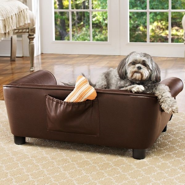 Faux-Leather Sofa Dog Bed | Brisbane