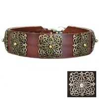 Designer Leather Dog Collars | Lucy