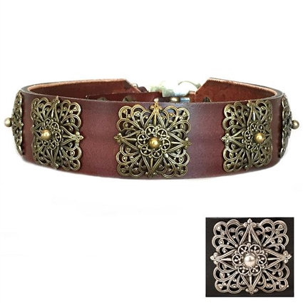 Leather Designer Dog Collars | Lucy