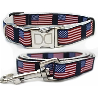 American Flag Dog Cat Collar