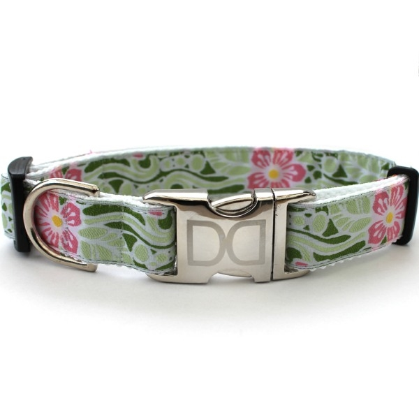 Personalized Large Dog Collars Flowers