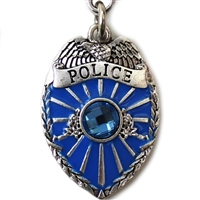Police Badge Dog Pet Collar Charms