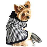 Classic Houndstooth Designer Dog Coat