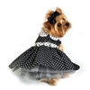 Black and White Polka Dot Dog Dress