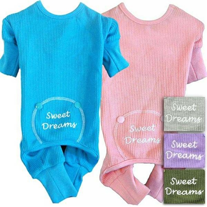 Sweet Dreams Thermal Onesie Dog Pajamas