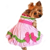Pink Watermelon Small Dog Harness Dress